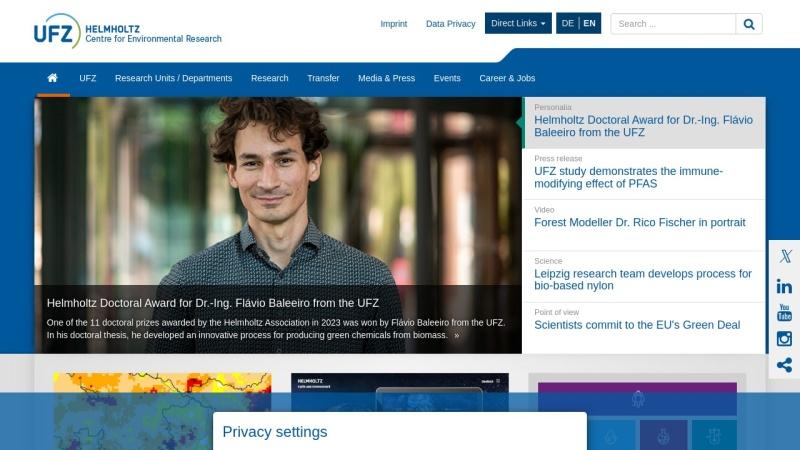 www.ufz.de Vorschau, Helmholtz-Zentrum für Umweltforschung GmbH - UFZ