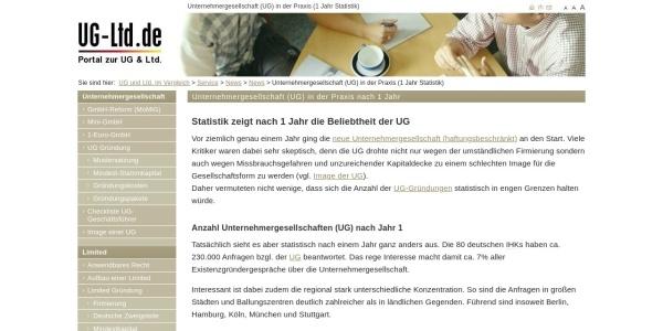 http://www.ug-ltd.de/service/aktuelles/unternehmergesellschaft-in-der-praxis-1-jahr-statistik.html