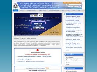 Screenshot for ugc.ac.lk
