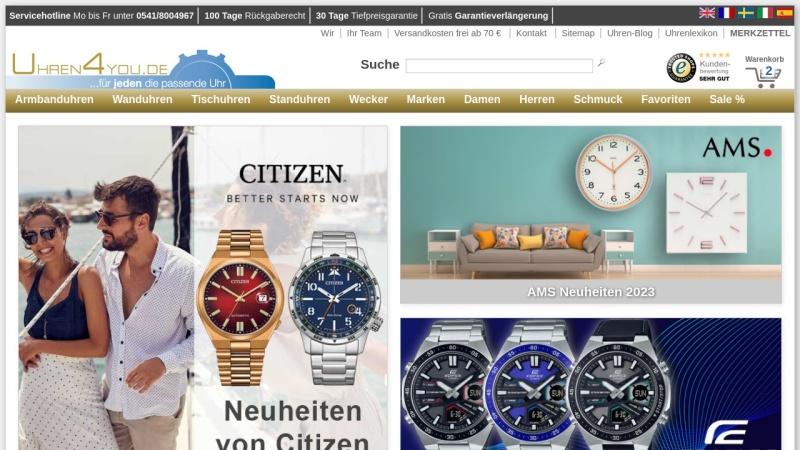 www.uhren4you.de Vorschau, iBizz GmbH - Uhren 4 you