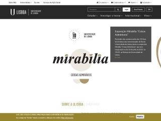 Screenshot do site ul.pt