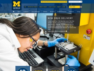 Screenshot for umich.edu