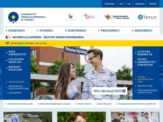 Zrzut ekranu strony umk.pl