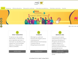 Captura de pantalla para unadmexico.mx