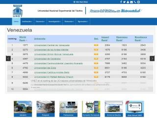 Captura de pantalla para unet.edu.ve