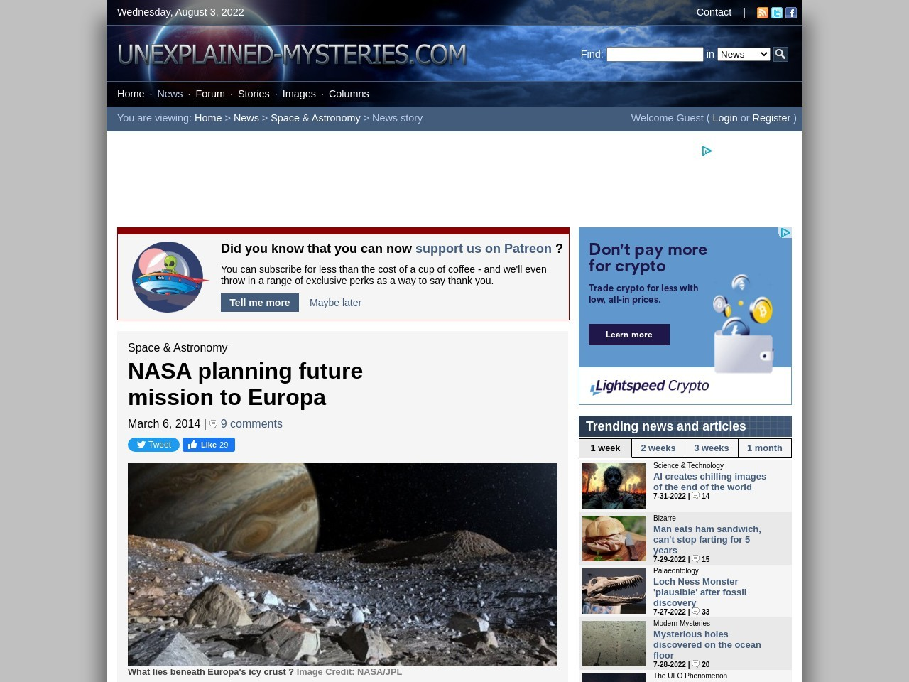 NASA planning future mission to Europa