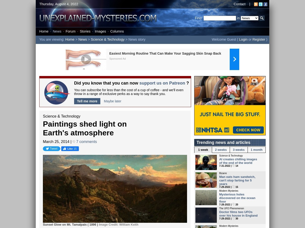 Paintings shed light on Earth's atmosphere