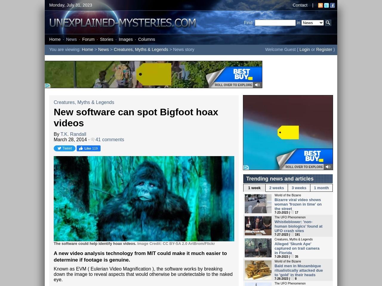 New software can spot Bigfoot hoax videos