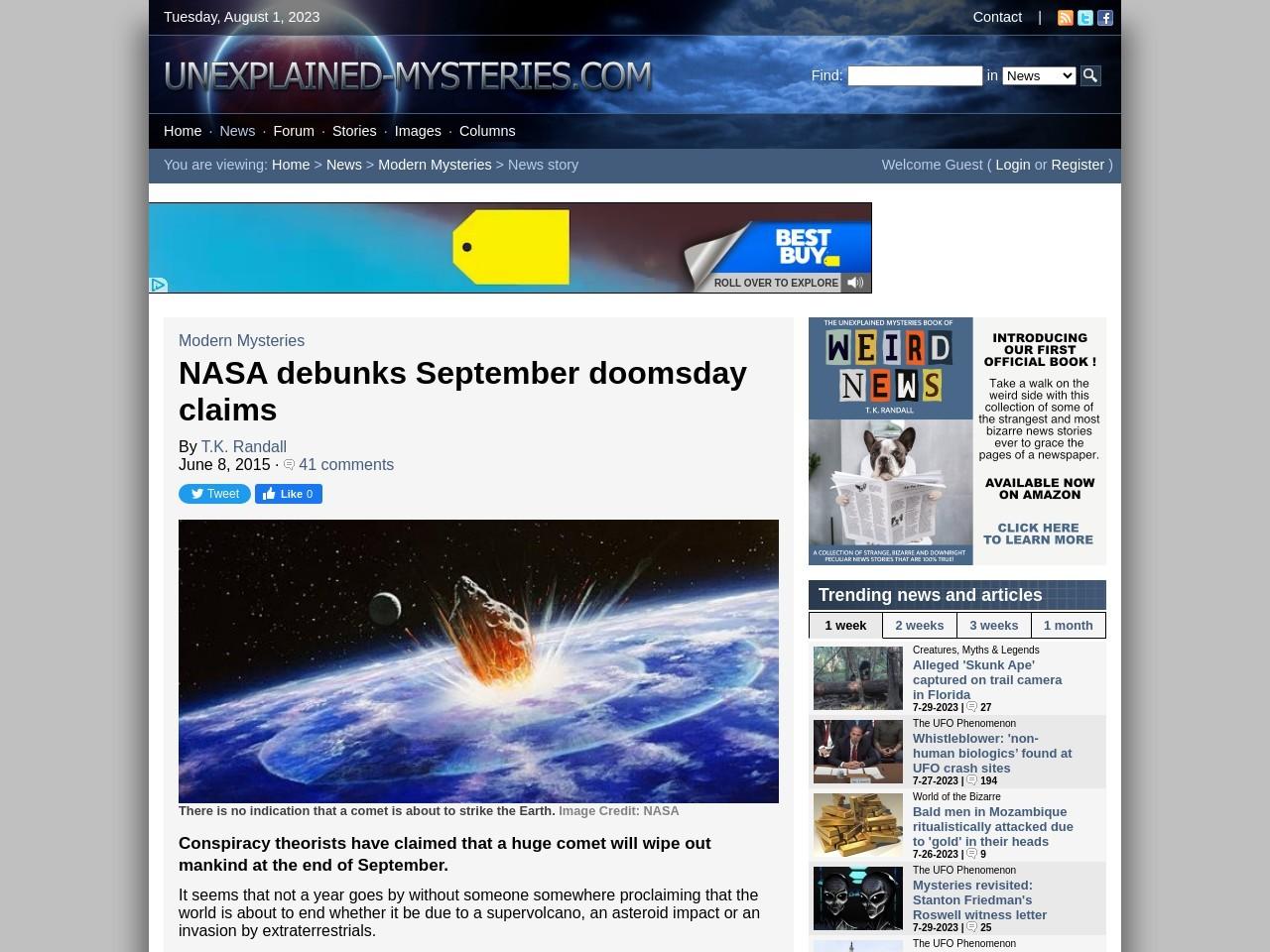 NASA debunks September doomsday claims