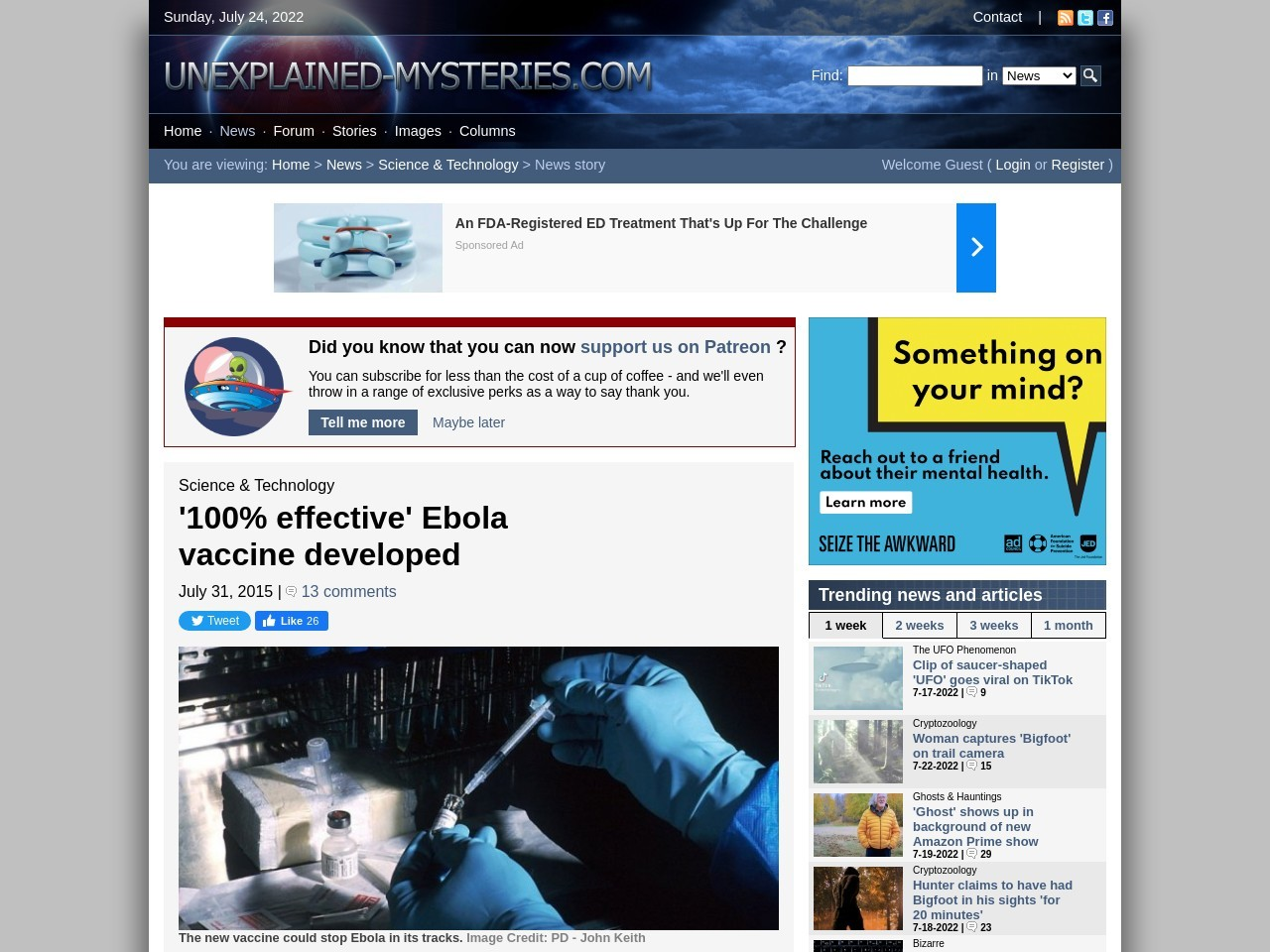 '100% effective' Ebola vaccine developed