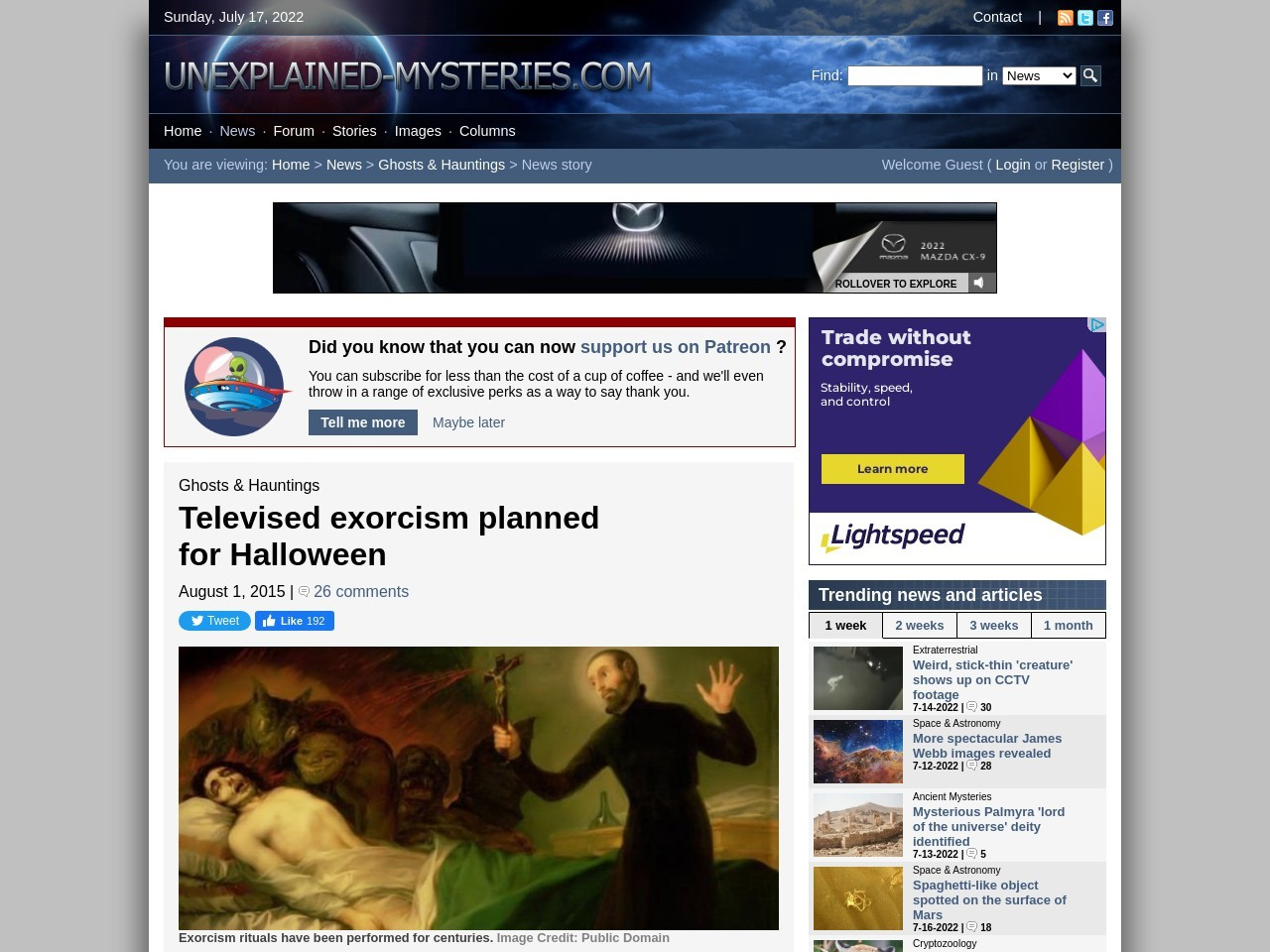 Televised exorcism planned for Halloween