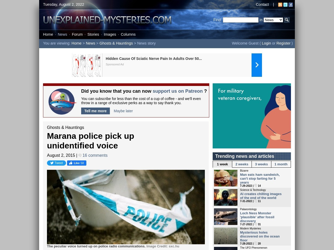 Marana police pick up unidentified voice