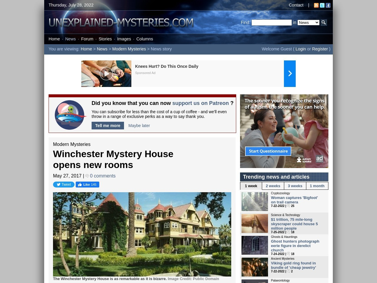 Winchester Mystery House opens new rooms