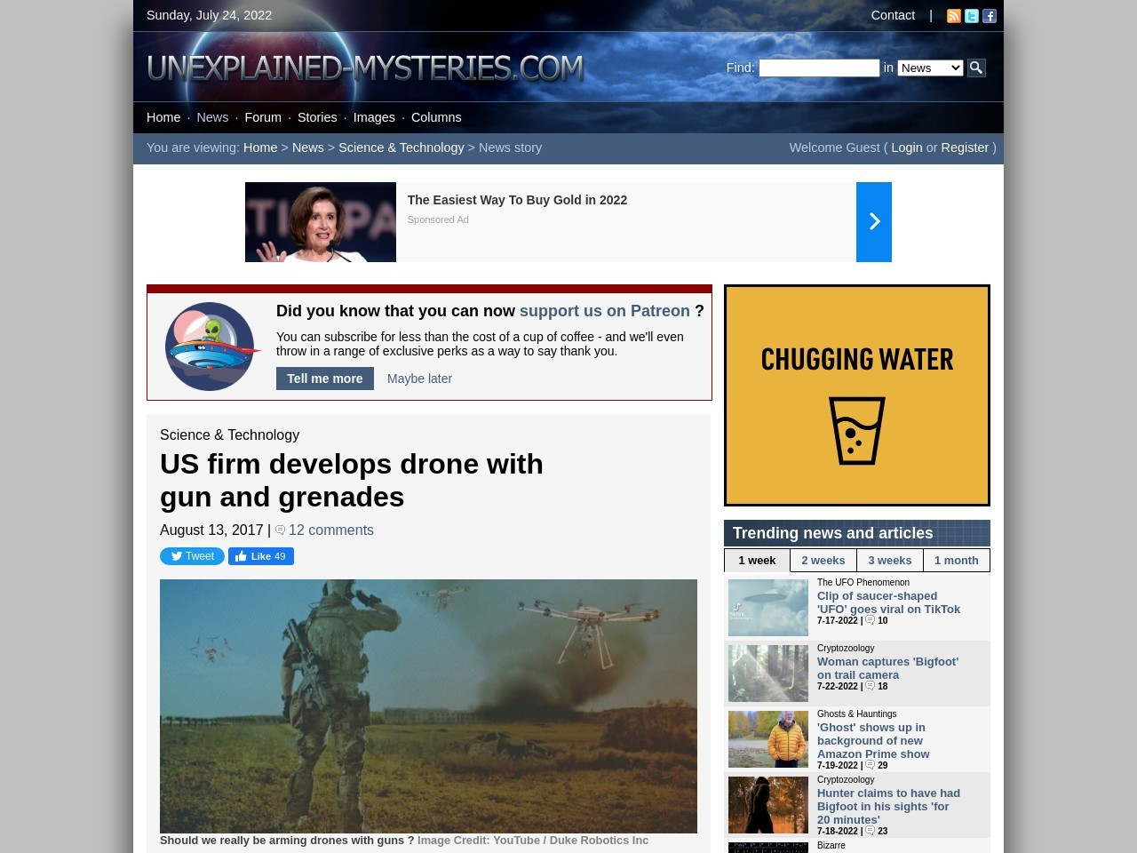 US firm develops drone with gun and grenades
