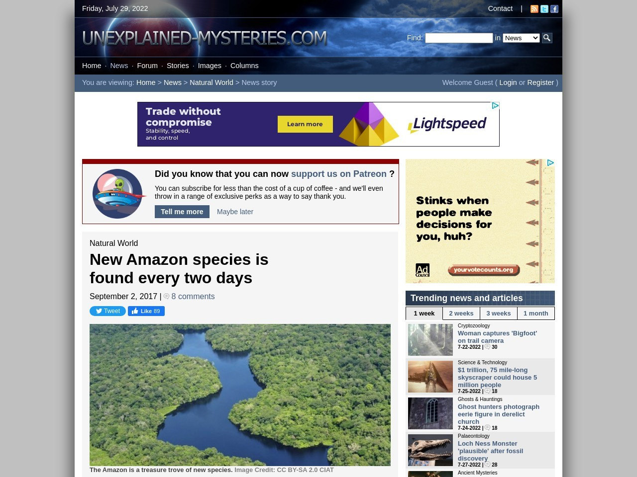 New Amazon species is found every two days