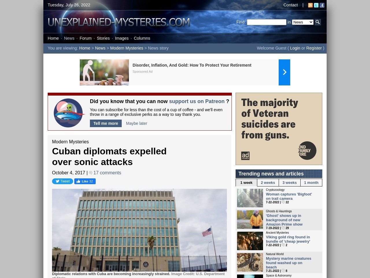 Cuban diplomats expelled over sonic attacks