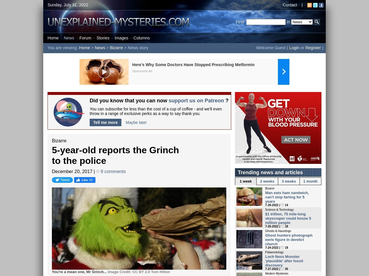 5-year-old reports the Grinch to the police