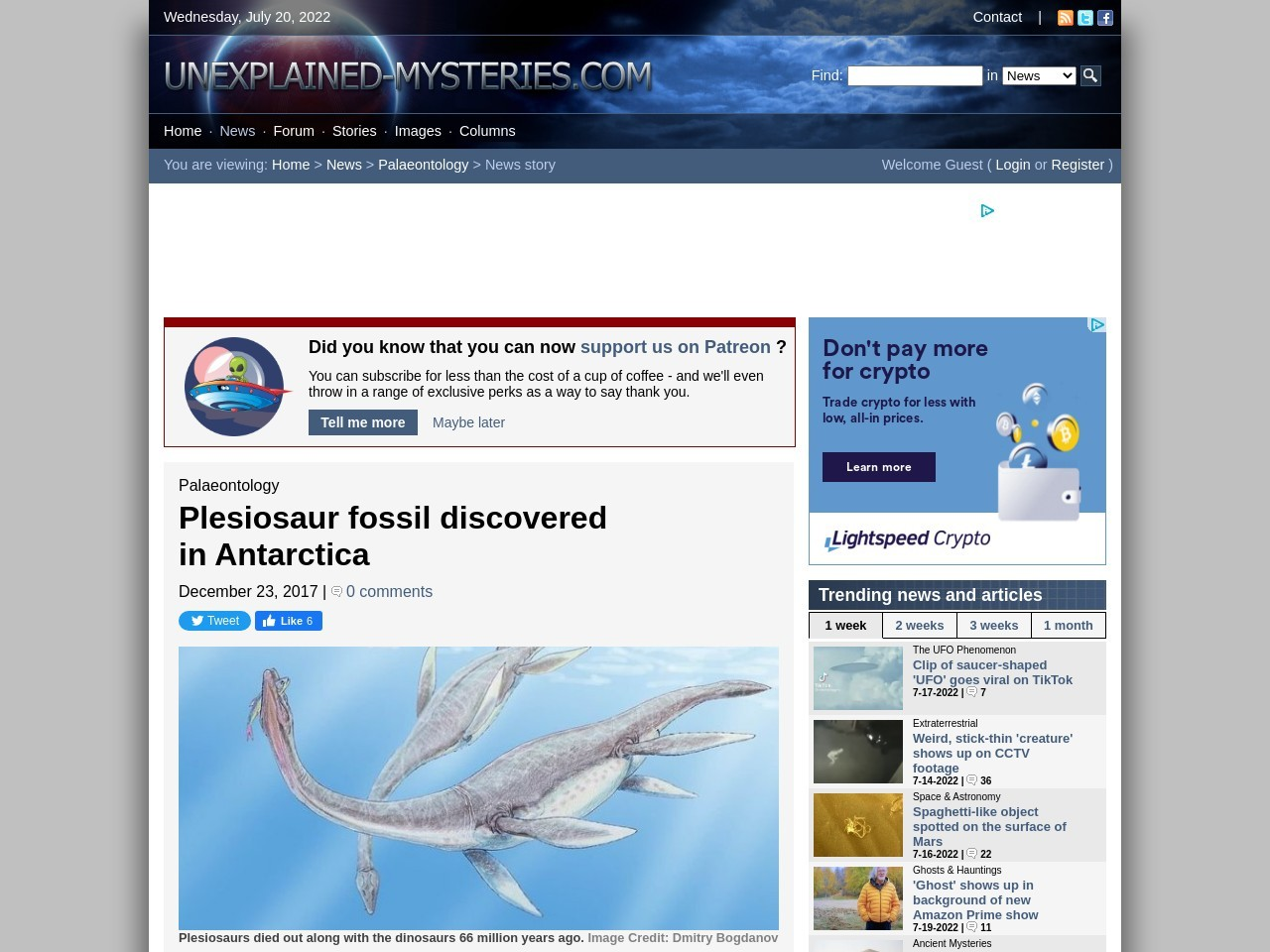 Plesiosaur fossil discovered in Antarctica