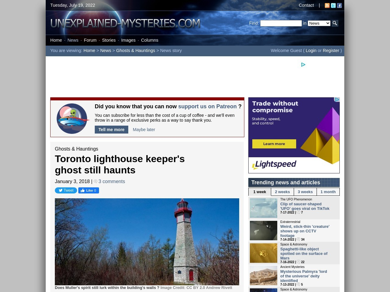 Toronto lighthouse keeper's ghost still haunts