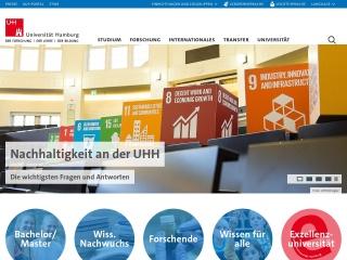 Screenshot der Website uni-hamburg.de