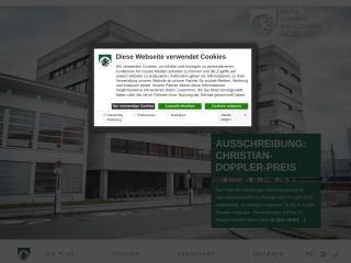 Screenshot der Website uni-salzburg.at