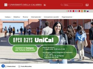 Screenshot del sito unical.it