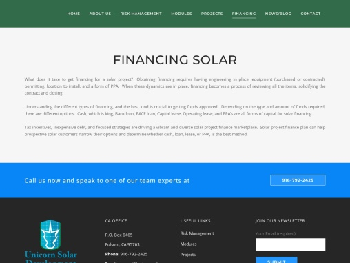 Financing solar energy systems