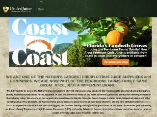 Screenshot for unitedjuice.com