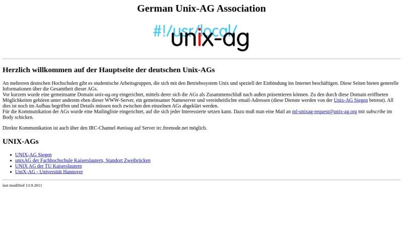 www.unix-ag.org Vorschau, Vereinigung der deutschen Unix-AGs