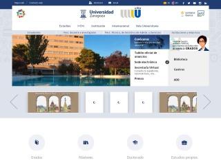 Captura de pantalla para unizar.es