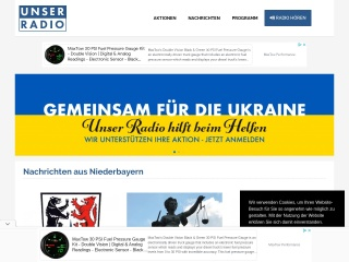Screenshot der Website unserradio.de
