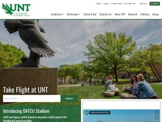 Screenshot for unt.edu