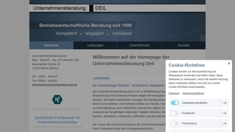 www.unternehmensberatung-deil.de Vorschau, Unternehmensberatung DEIL - Dipl. - Wirtsch. - Ing. (FH) Werner Deil