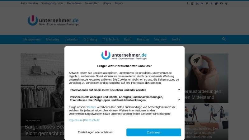 www.unternehmer.de Vorschau, Unternehmer - Marktplatz Mittelstand GmbH & Co. KG
