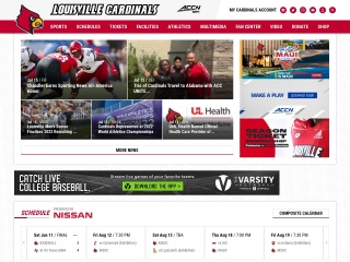 Screenshot for uoflsports.com