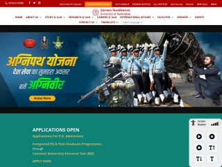 Screenshot for uohyd.ac.in