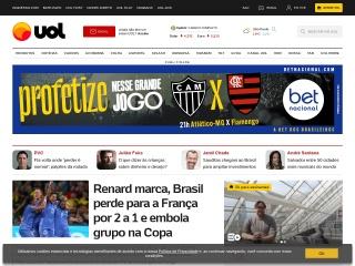 Screenshot do site uol.com.br