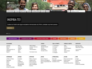 Screenshot do site up.pt