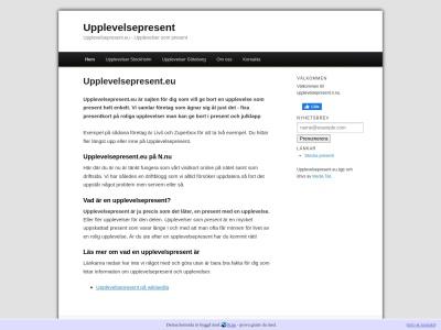 www.upplevelsepresent.n.nu