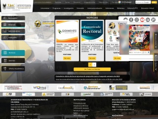 Captura de pantalla para uptc.edu.co