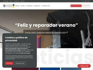 Captura de pantalla para upv.es