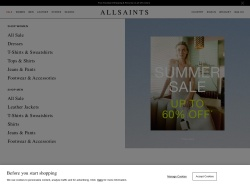 AllSaints screenshot