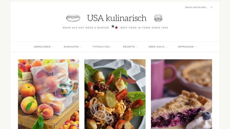 www.usa-kulinarisch.de Vorschau, USA kulinarisch