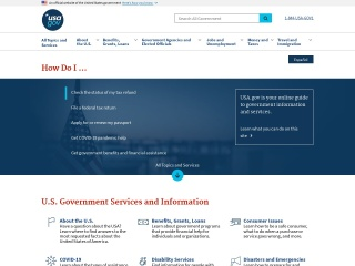 Screenshot for usa.gov