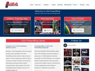 Screenshot for usapowerlifting.com