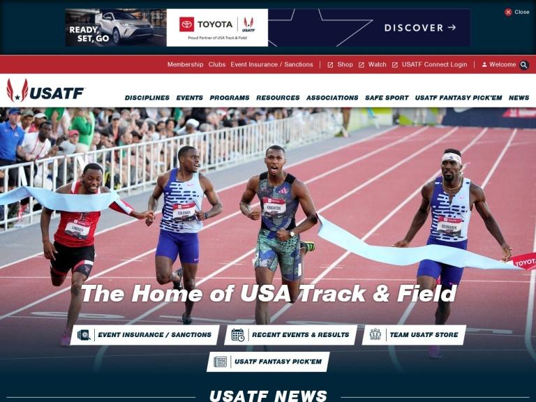 USA Track and Field screenshot