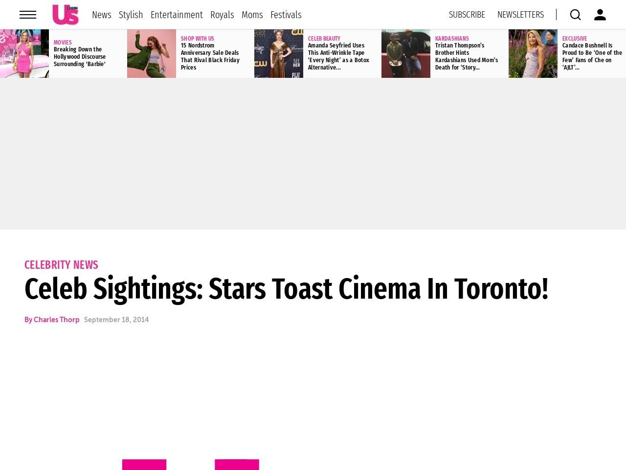 Celeb Sightings: Stars Toast Cinema In Toronto!