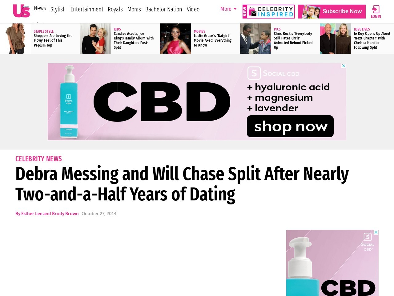 Debra Messing, Will Chase Split After Nearly 3 Years of Dating