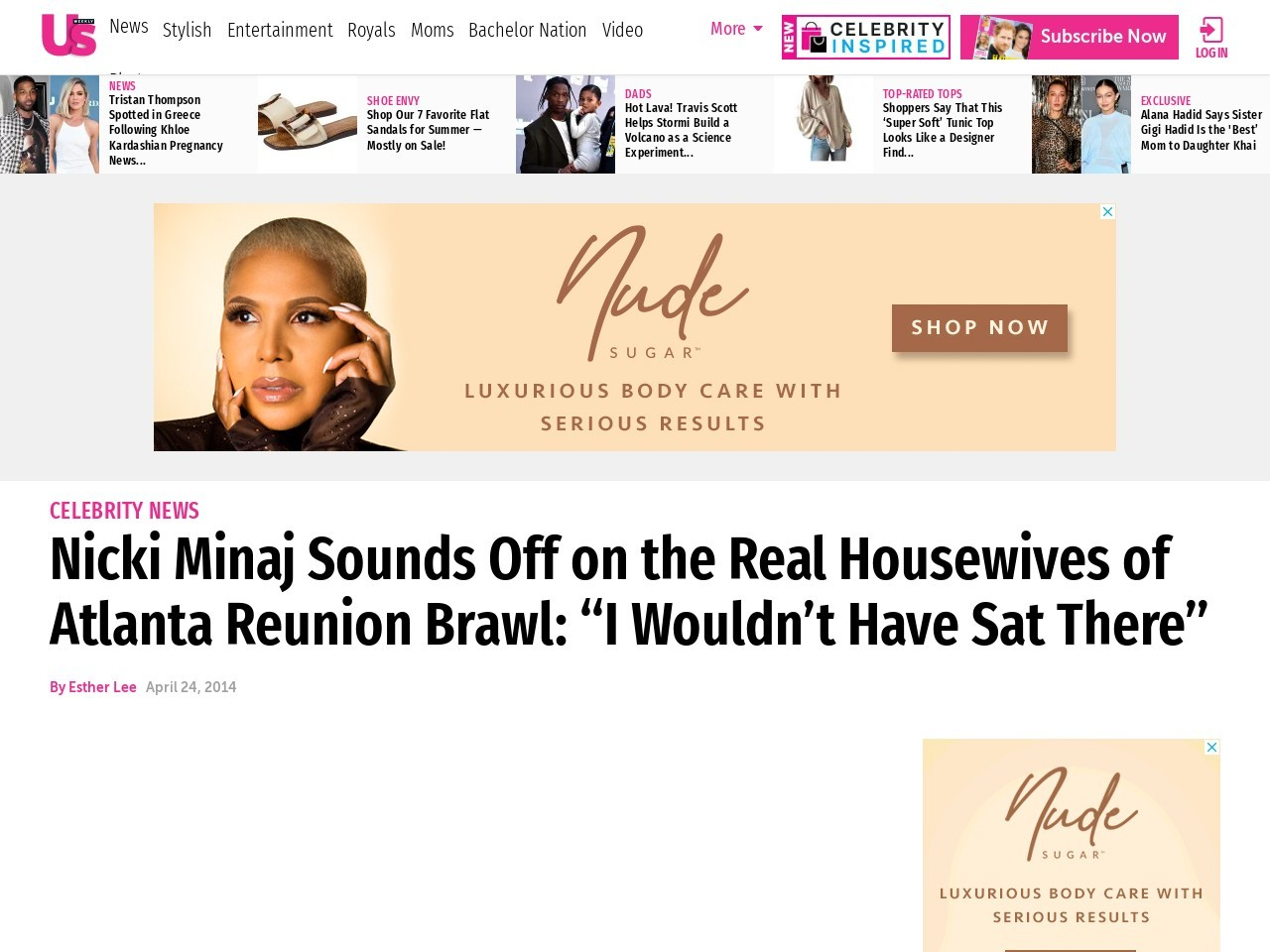 Nicki Minaj Talks Real Housewives of Atlanta Reunion Brawl