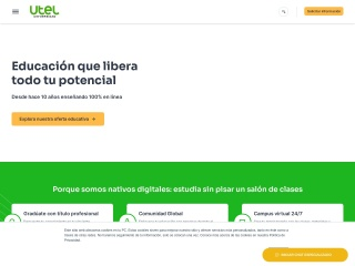 Captura de pantalla para utel.edu.mx